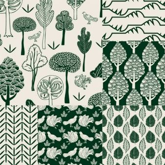 Nature pattern with hand painted style.