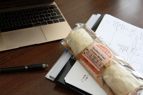 We're re-energizing ourselves with a southern fried chicken wrap for lunch! Come get yours! http://bit.ly/1JdlBOa