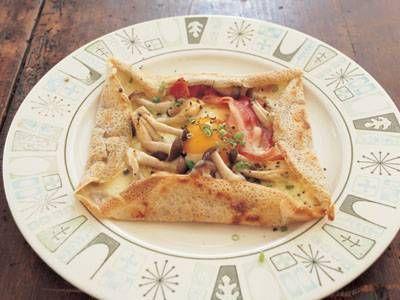 ケンタロウ さんの「そば粉のガレット」。フランス・ブルターニュ地方の郷土料理。外側はパリッと、かめばモチモチとした食感です。 NHK「きょうの料理」で放送された料理レシピや献立が満載。