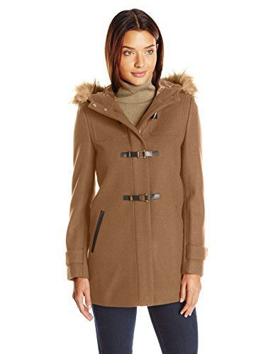 New Trending Outerwear: Cole Haan Womens Signature Hooded Duffle, Camel, 2. Cole Haan Women's Signature Hooded Duffle, Camel, 2   Special Offer: $165.00      155 Reviews 30 3/4 inch signature hooded duffle camel. Printed liningFaux fur trim at hood with faux Sherpa hood liningFaux leather welt pocketsPrinted lining