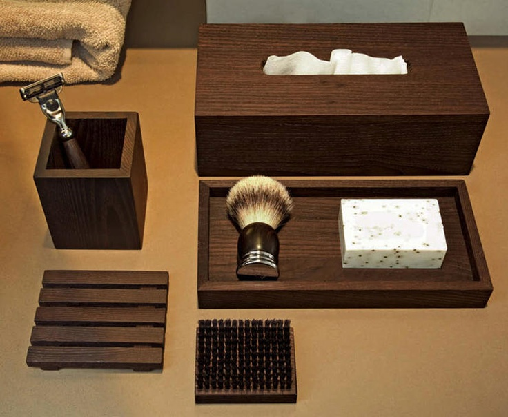 Decor Walther accessories suits well with Armani Casa style