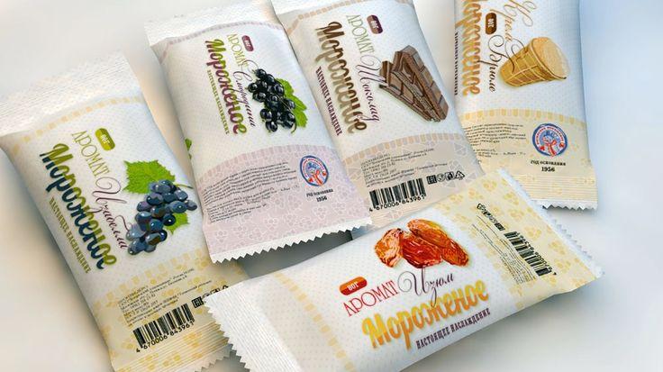 #Упаковка: #Дизайн_упаковки для мороженого. #Векторная_графика. #Secret_Art_Print.