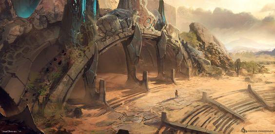 desert temple fantasy - Google Search