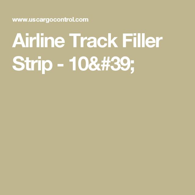 Airline Track Filler Strip - 10'