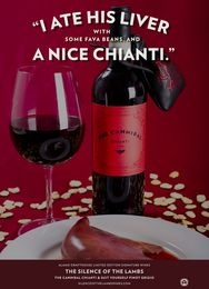 Alamo Drafthouse have released their 2013 signature wines, inspired by Silence of the Lambs.