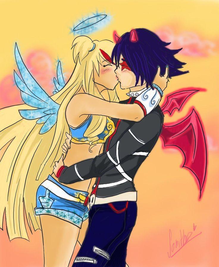 Картинки поцелуй друзья ангелов