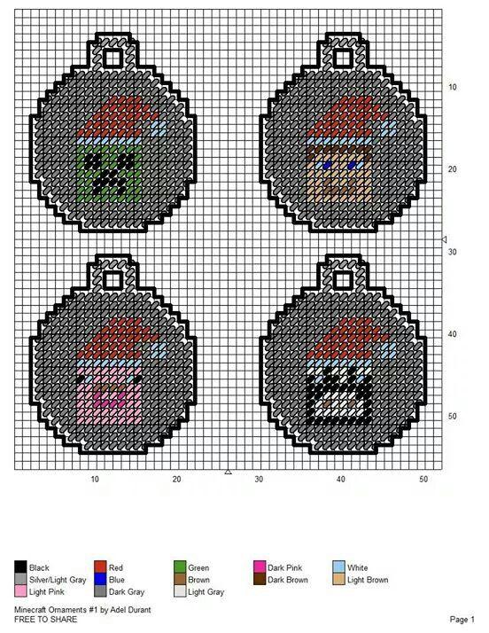 Mine craft Ornaments