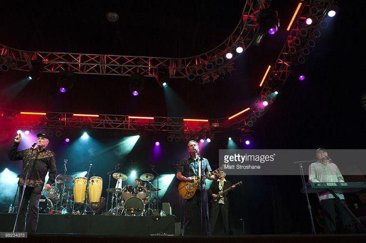 Mike Love(L) and Bruce Johnston (R) of the Beach Boys perform with John Stamos at Universal Studios on April 3, 2010, in Orlando, Florida. The Beach Boys were performing as part of the Mardi Gras concert series. (Photo by Matt Stroshane/Getty Images) Mike Love;John Stamos;Bruce Johnston