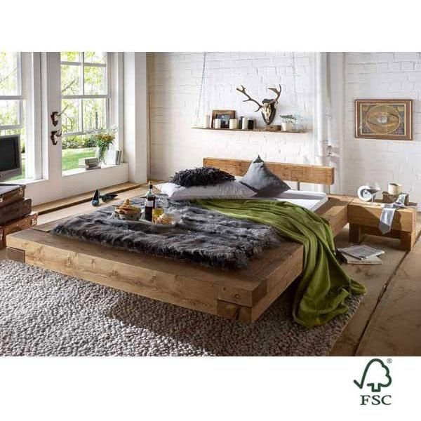 Cama de madera maciza de pino Chalet Brus