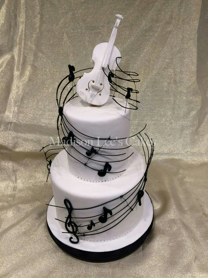 Music cake - For all your cake decorating supplies, please visit craftcompany.co.uk