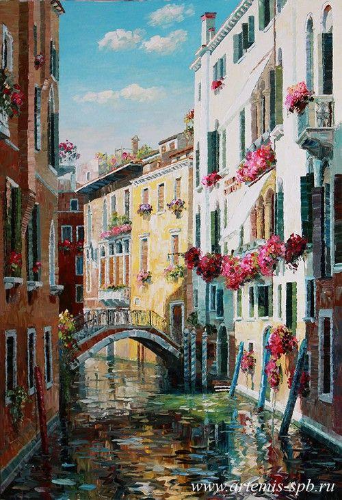 Картины маслом Творческого Объединения Artemis. Городской пейзаж. Венеция