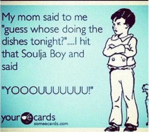 Hahahaha.... Wonder what my mama woulda said if I woulda did this when I stayed at home... LOL