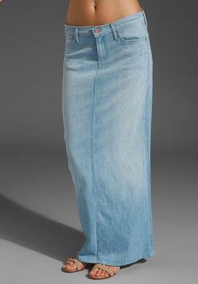 Best Jean Skirts for Women: The Maxi Skirt