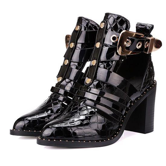 Купить товарНатуральная кожа указал toe женщин пряжки ремня, Туфли на высоком каблуке мода толстые каблуки женская обувь на высоком каблуке популярные мягкие сандалии в категории Сандалиина AliExpress.   Genuine leather pointed toe women belt buckle, pumps fashion thick heels ladies shoes high heels popular soft SandalsU