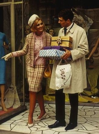 Shopping at La Pastorale Frocks, 125 Collins Street Melbourne photo Wolfgang Sievers 1965