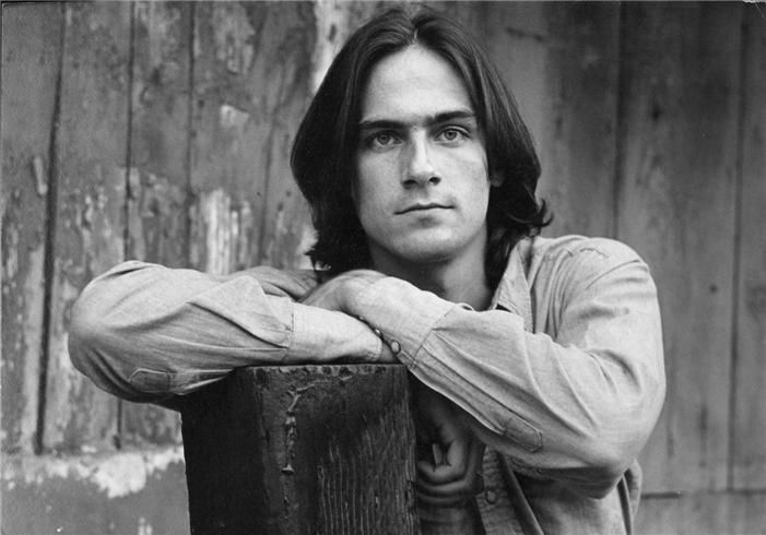 James Taylor, Lake Hollywood,CA, 1969  © HENRY DILTZ, 1969  James Taylor, Sweet Baby James album cover out-take, Lake Hollywood area, 1969