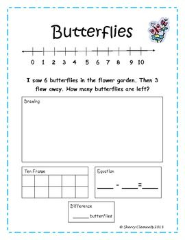 Subtraction Word Problems (Common Core)  5 pages   $