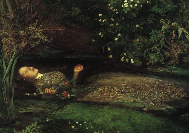 """""""Ophelia"""" - John Everett Millais. Inspirazione di Mara Sanzone per """"Ophelia's Dream""""  http://www.harimag.it/23-special-guest/madeinmedi/2501-il-sogno-di-mara-sanzone-ophelia-s-dream"""