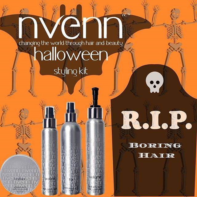 "Go 🦇""batty"" this october and craft the perfect style for the hottest halloween look with our👻 HALLOWEEN STYLE KIT   sink your fangs into %25 savings! https://goo.gl/2UDFYJ    #nvenn #halloween #style #kit #halloweenhair #halloweenstylekit #yeghair #yychair #bbloggers #salonpro #fallhair"