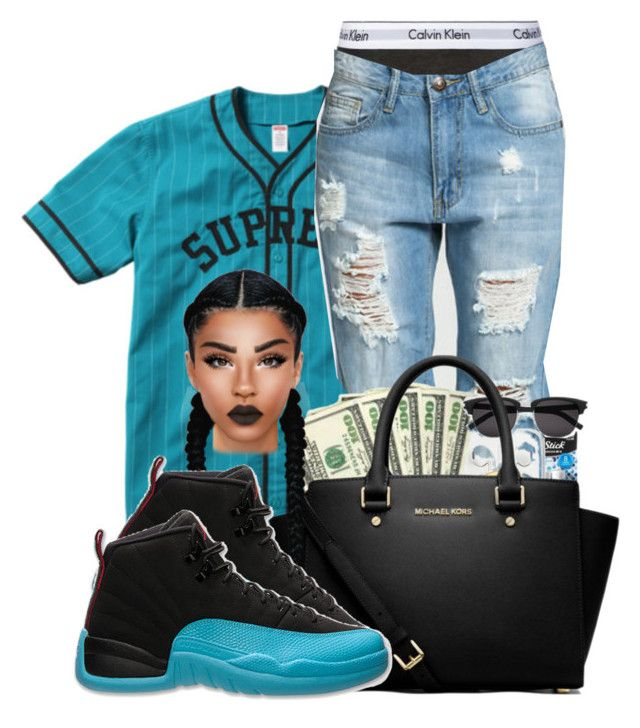 """Supreme*"" by ballislife ❤ liked on Polyvore featuring Calvin Klein Underwear and MICHAEL Michael Kors"