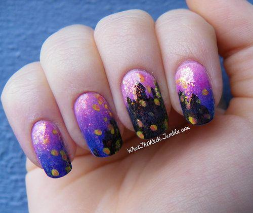Rapunzel Nails: 45 Best Images About Prom On Pinterest