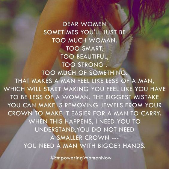 Dear women, You don't need a smaller crown -- you need a ...