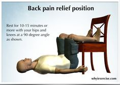 Lower back pain remedy: Immediate pain relief, plus back support & ergonomics