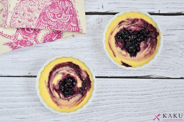 Jogurtowy deser z kaszką kukurydzianą i jagodami KAKU fashion cook / yoghurt pudding with blueberries