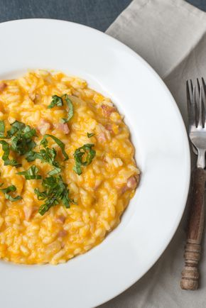 Pompoenrisotto met bacon - OhMyFoodness