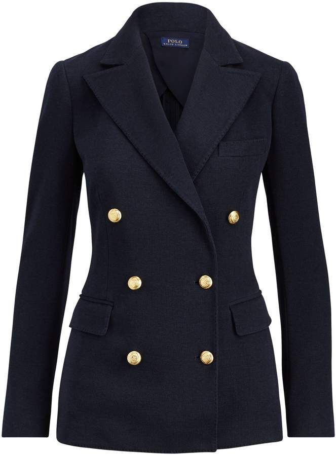 Ralph Lauren Knit Double Breasted Blazer Blazer Double Breasted Womens Fashion Blazer