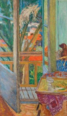 Pierre Bonnard (1867-1947) | La porte-fenêtre avec chien Painted in Le Cannet 1927 | 20th Century, Paintings | Christie's