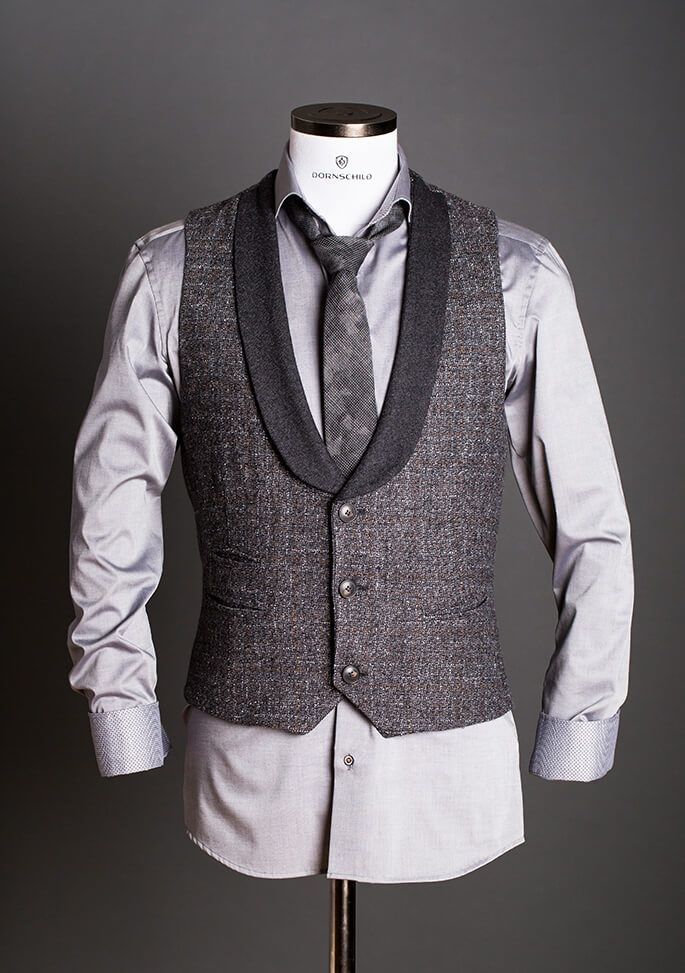 Chic cool single breasted designer tuxedo vest made of
