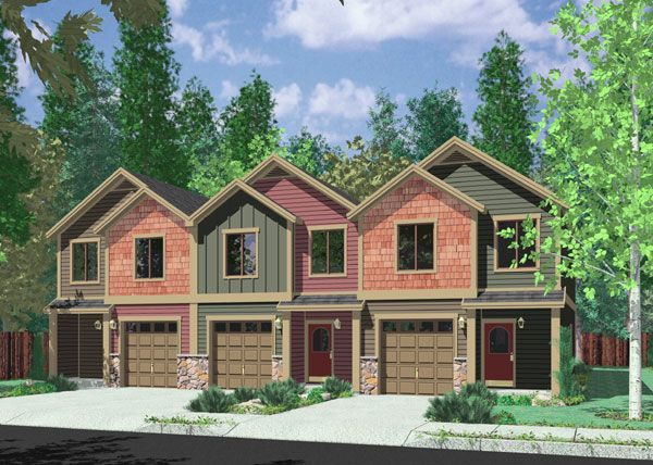17 best images about infill house design on pinterest for Back to back duplex house plans
