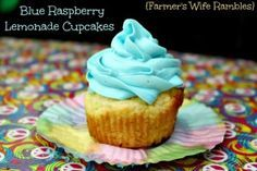 Blue Raspberry Lemonade Cupcakes - Farmer's Wife Rambles