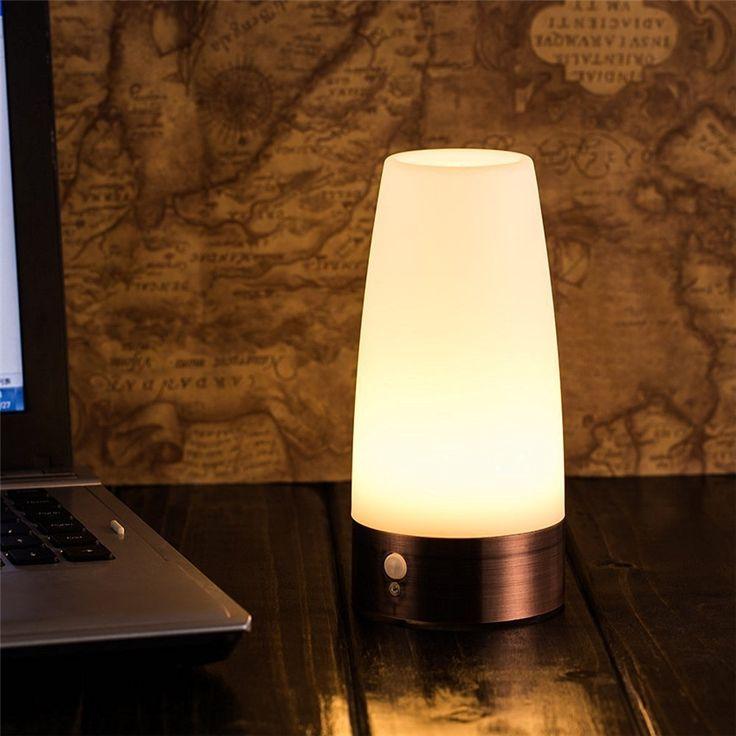 1x smart led night light battery operated pir motion sensor led night lamp light