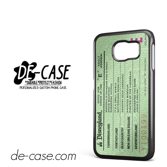 Green Disneyland Ticket DEAL-4862 Samsung Phonecase Cover For Samsung Galaxy S6 / S6 Edge / S6 Edge Plus