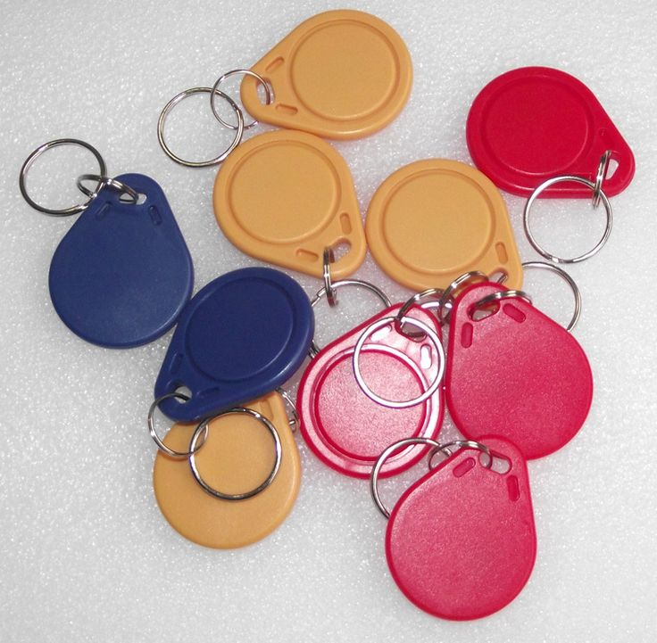 Writable FM1108 13.56MHz RFID IC Key Tags Keyfobs Token NFC TAG Keychain for access control  Arduino