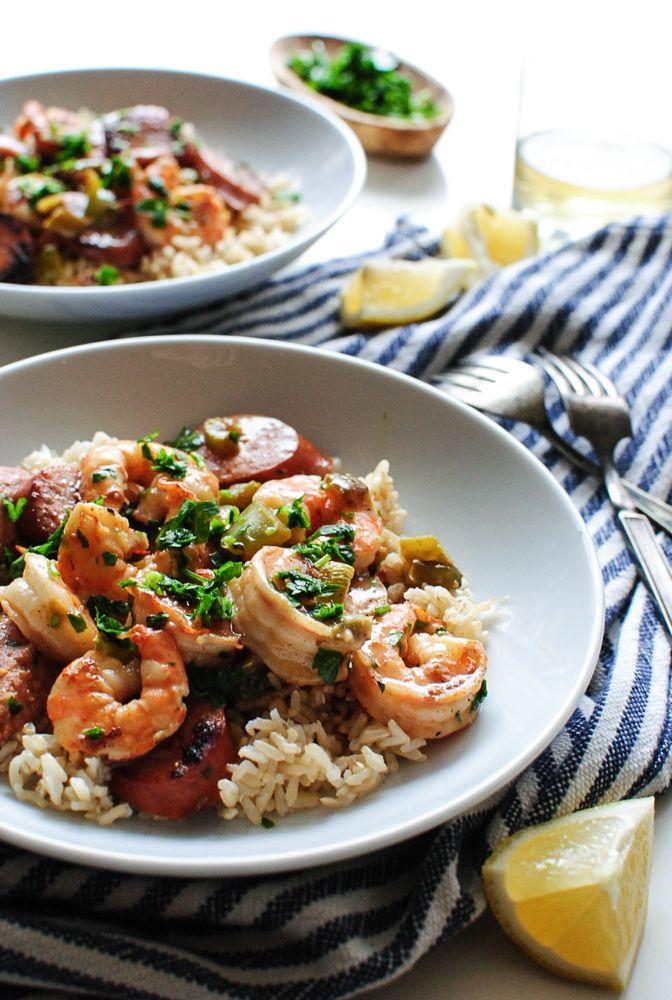 Cajun Sausage and Shrimp with Rice