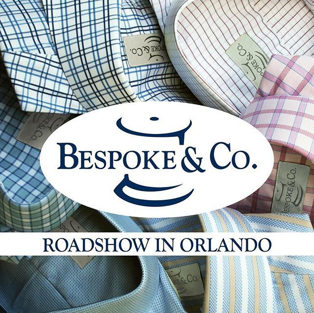 Bespoke & Co. is coming to Orlando, March 1st at the Citrus Club. We will be featuring our new spring collections and measuring clients for custom suits, tailored shirts and custom sportswear.  Call today to set up your appointment at 813-902-1963. #bespo