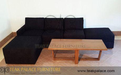 Sofa Sudut L Minimalis Ruang Tamu Keluarga Harga Murah