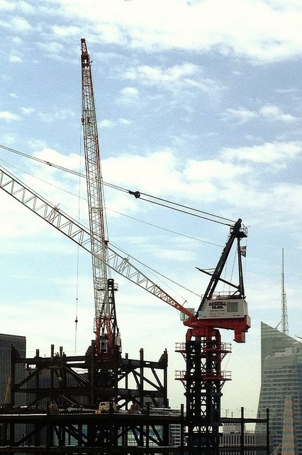 The secret language of cranes, from the Hearst building.