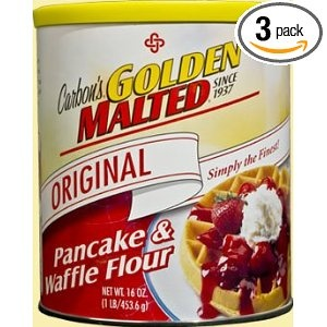 Best Waffle MIX: Golden Malted Pancake & Waffle Flour, Original, 33-Ounce Cans (Pack of 3)