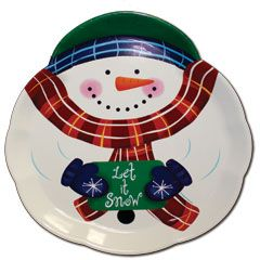 Snowman Plastic Serving Tray from Windy City Novelties