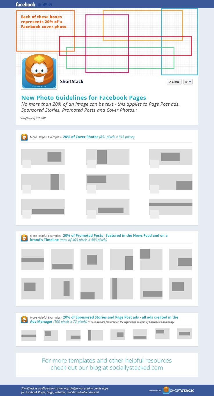 Modelo tamanho imagem anuncio Facebook 20 de texto
