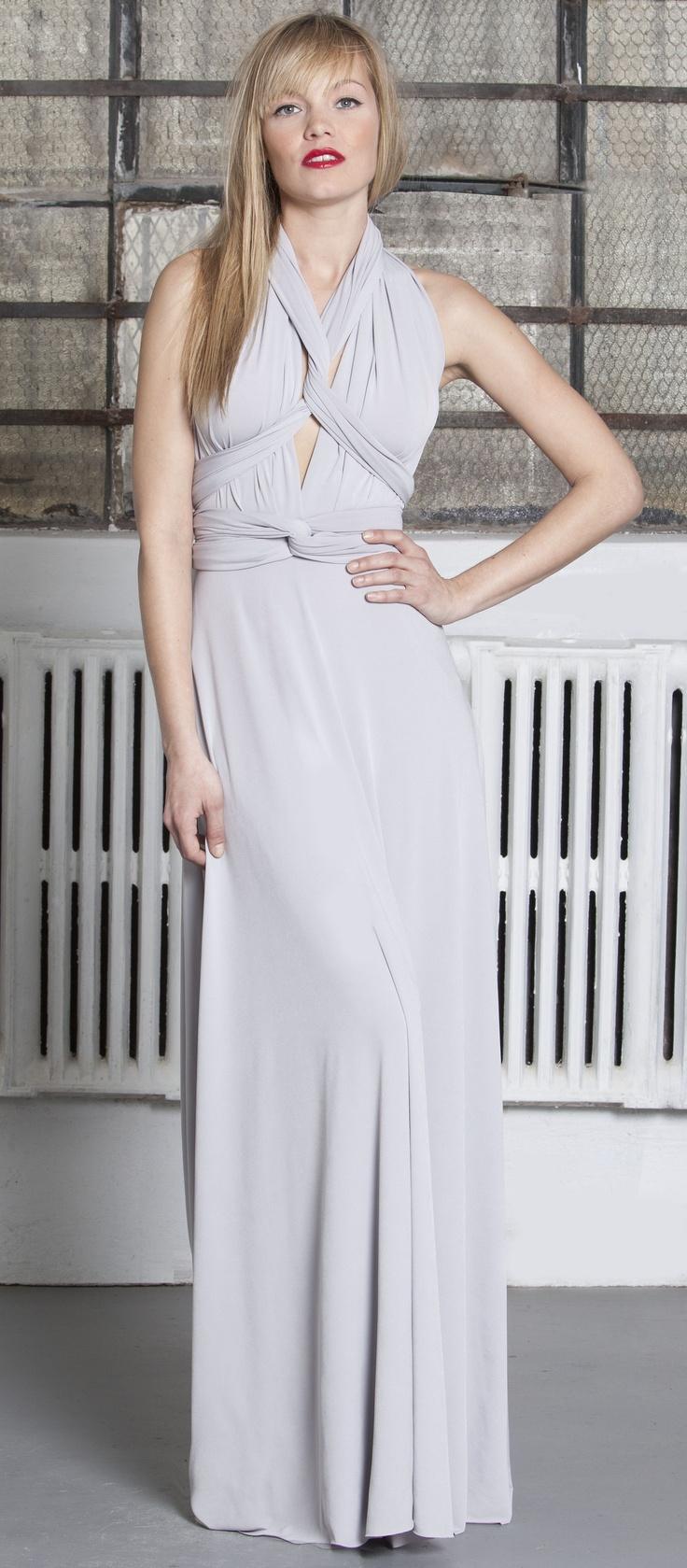 Von Vonni Long Transformer Dress in Silver! New Spring Color!