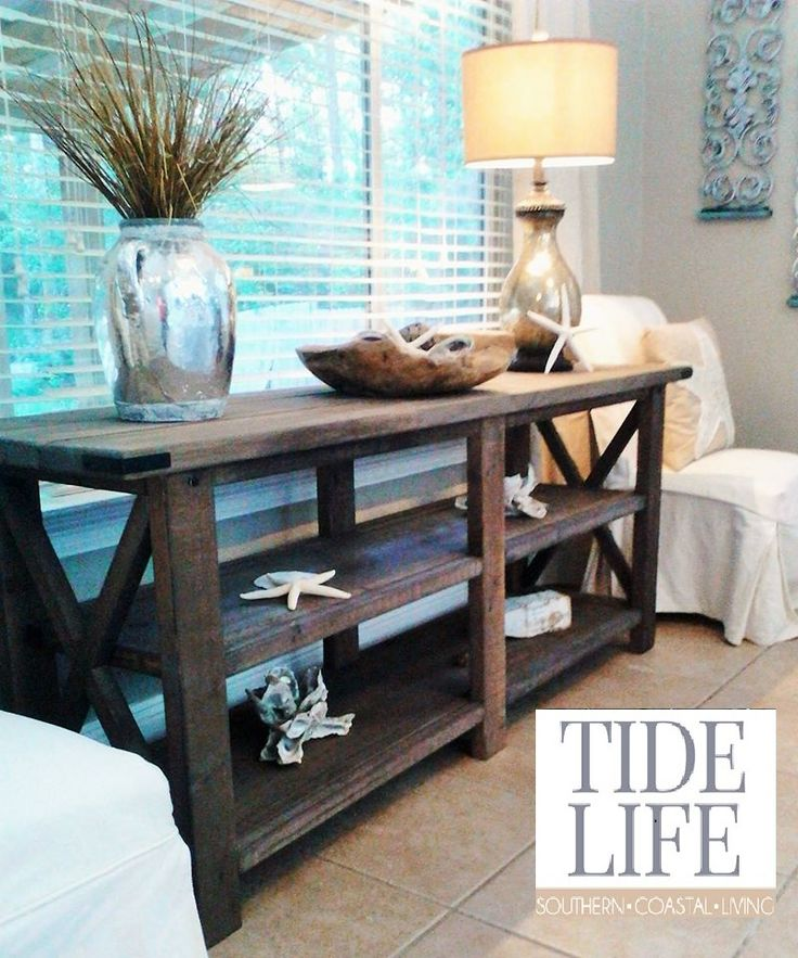 Beach House Entry Tables: 44 Best Tide Life Custom Handcrafted Coastal Furniture