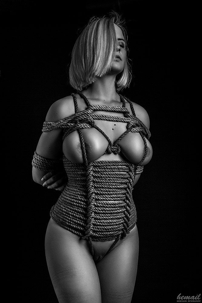 Erotic rope binding