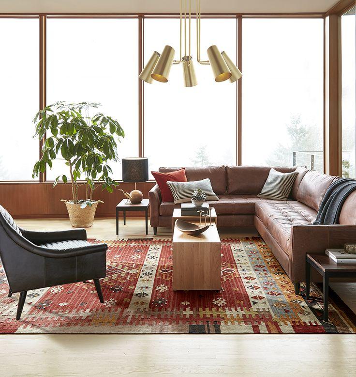 Reclining Sofa Cypress Arm Chandelier Leather CouchesKilim