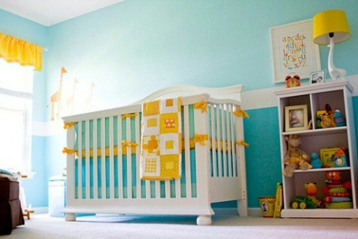 ;): Babies, Nurseries, Blue, Nursery Ideas, Yellow, Baby Rooms, Kid, Baby Stuff
