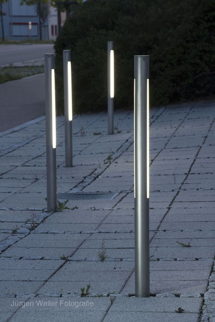 Slim Sleek Contemporary Bollards Exterior Lighting Pinterest Squares Commercial And Lights